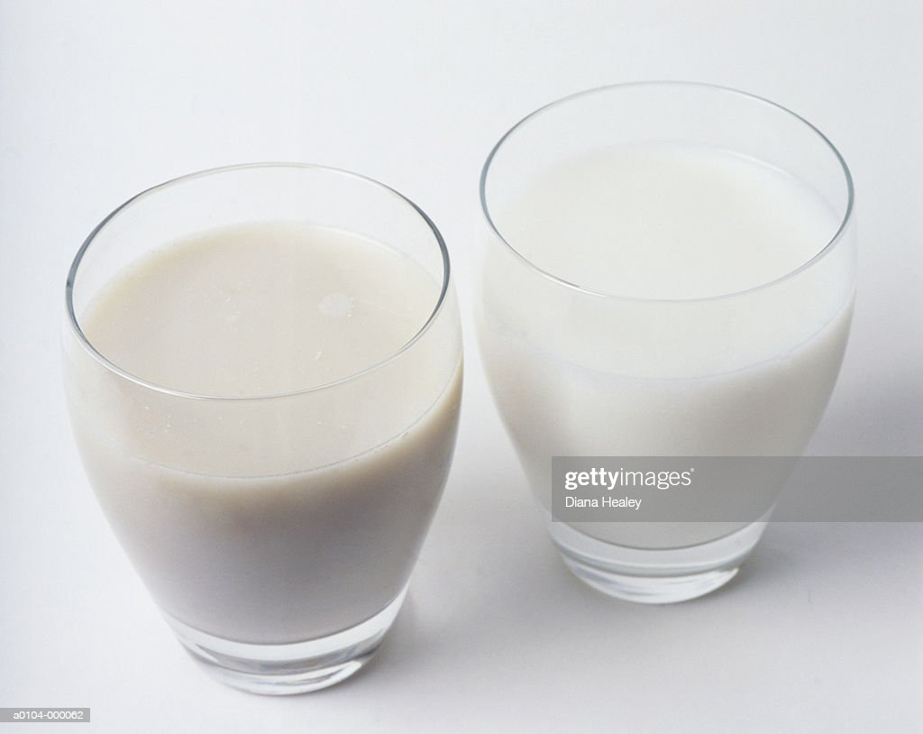 Soy Milk and Whole Milk