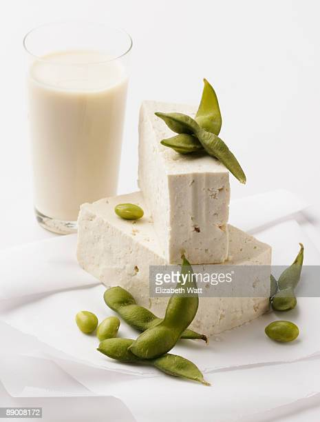 Soy milk , tofu , and edamame