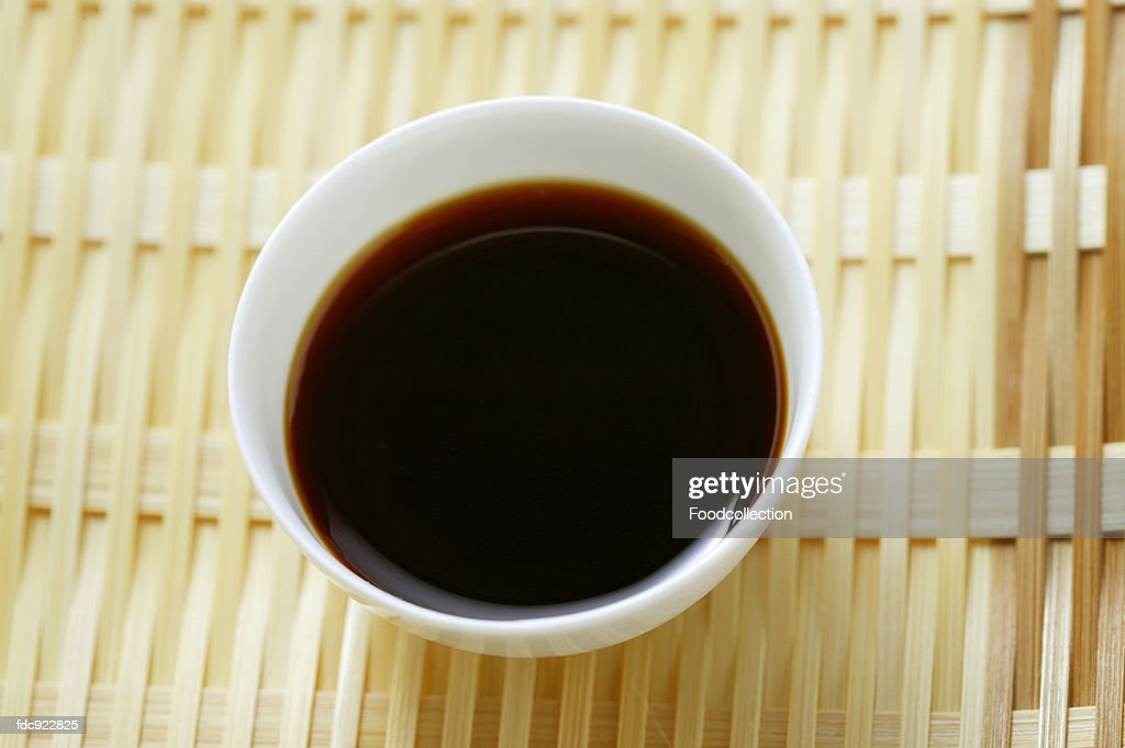 Soy sauce in small bowl : Stock Photo