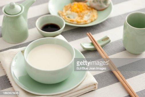 Soybean milk : Stock Photo