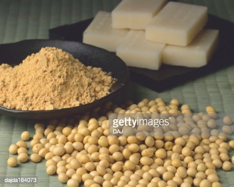 Soybean Rice Cake And Soybean Flour Stock Photo Getty Images