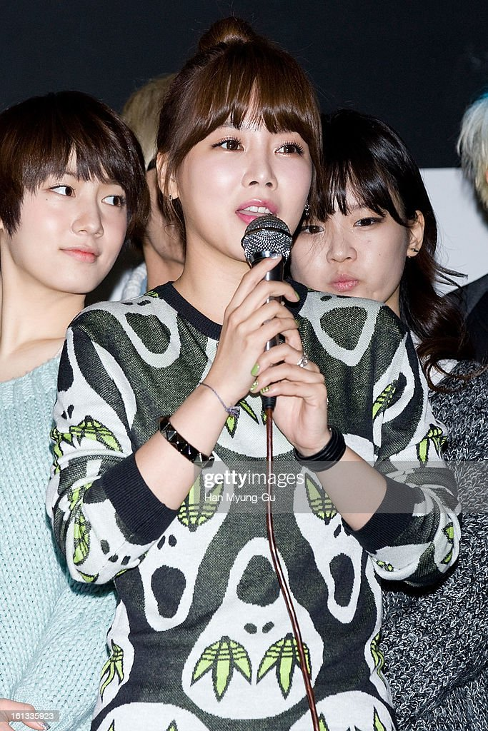 Soyeon (So-Yeon) of South Korean girl group T-ara attends the Core Contents Media Artists New Year's Day Charity Event at Gibalhan Chicken Store on February 9, 2013 in Bucheon, South Korea.