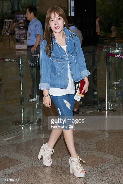 Soyeon of South Korean girl group Tara of South Korean girl group Tara is seen on departure at Gimpo International Airport on September 24 2013 in...