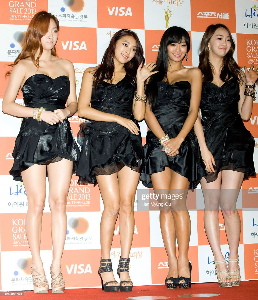 Soyou, Bora, Hyorin and Dasom of South Korean girl group SISTAR attend the 22nd High1 Seoul Music Awards at SK Handball Arena on January 31, 2013 in Seoul, South Korea.