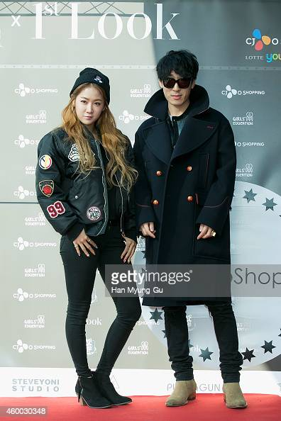 Soyou of South Korean girl group SISTAR and designer Ko TaeYoung attend the opening of '1st Look' Popup Store at Lotte Young Plaza on December 6 2014...