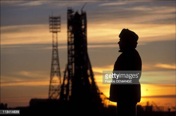 Soyuz From The Samara Space Center To The Launch Pad Of Baikonur On February 1999 In BaikonourRussian Federation Baikonur Russian Soldier Watching...