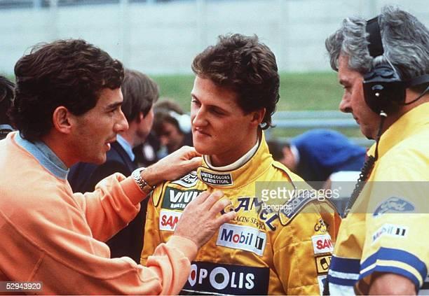 BELGIEN 1992 Spa Ayrton SENNA SIEGER Michael SCHUMACHER/GER BENETTON FORD