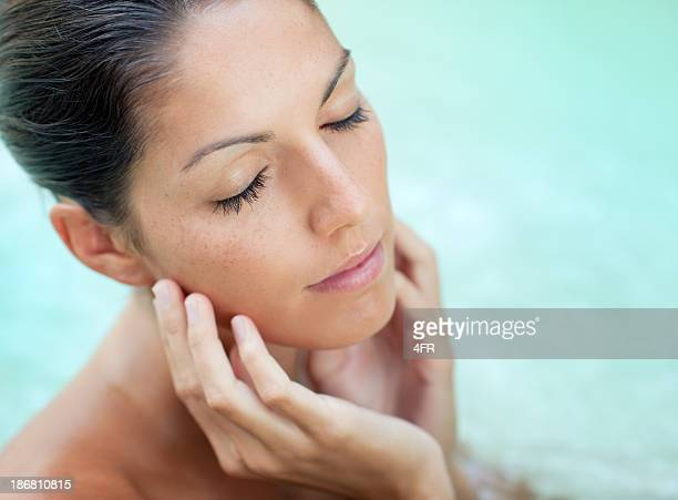 Spa Beauty Portrait - Woman Relaxing (XXXL)