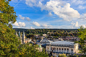 Spa is a town located in a wooded valley of the Ardennes mountains, surrounded by undulating hills and countless rivers and springs. It is famous for its mineral waters and for the spa. Wallonia, Belg