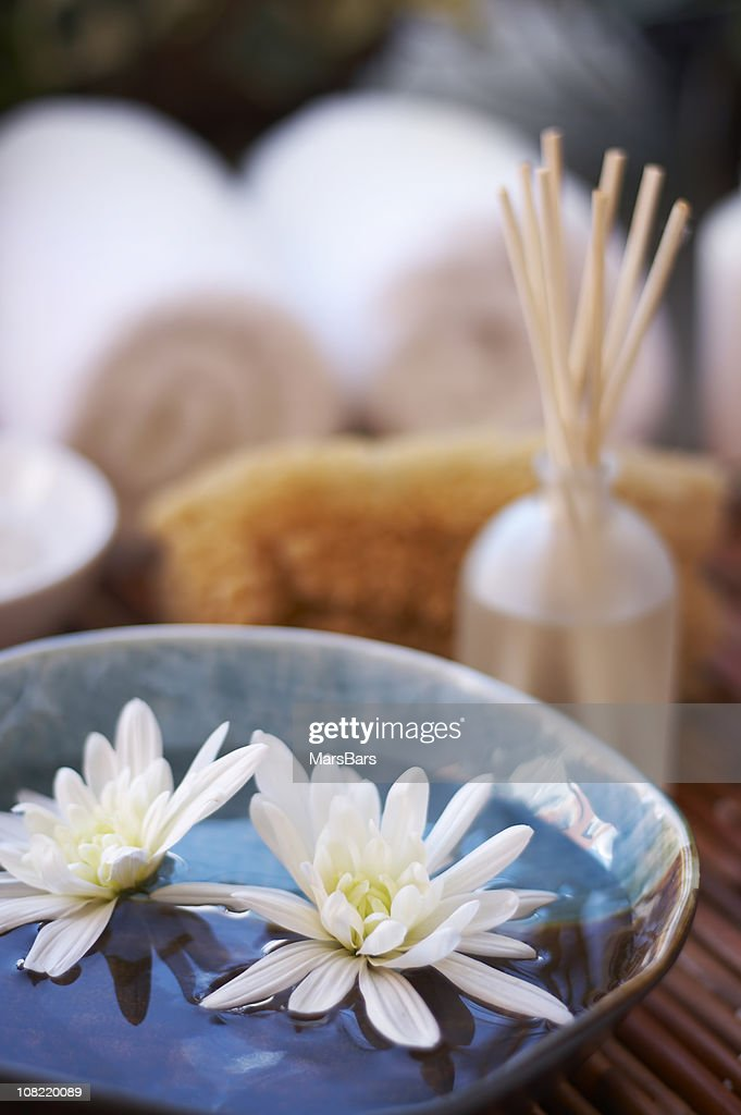 spa concept with flowers : Stock Photo