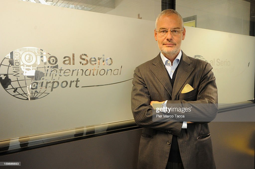 SpA General Director Andrea Mentasti poses before a press conference at Orio Al Serio Airport on January 22, 2013 in Bergamo, Italy. Ryanair is introducing 4 new flights that will be operational from April. The new routes will be Catania (Italy), Kalamata (Greece), Knock (Ireland) and Malta.