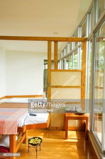 Spa open nature room : Stock Photo
