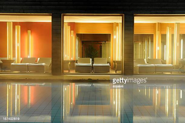 spa pool and reflections