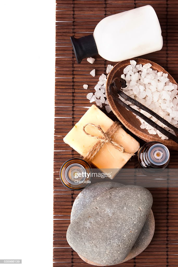 Spa still life isolated on white background : Stock Photo