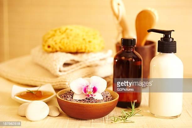 Spa still life of bath products