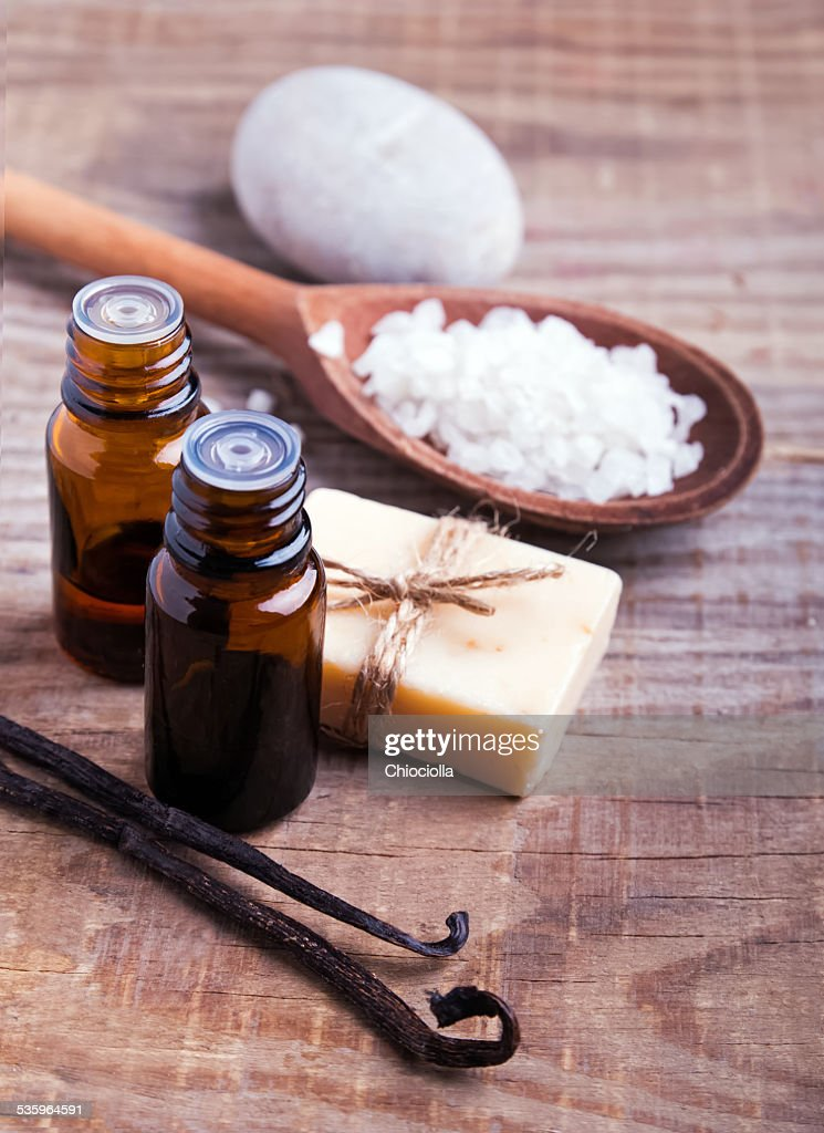 Spa still life on the wooden background : Stock Photo
