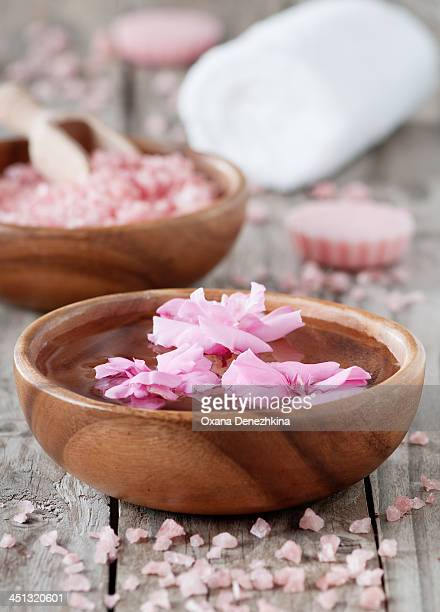 Spa with flowers
