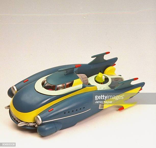Space age toy car based on vehicle from new Warner Bros movie Space Jam