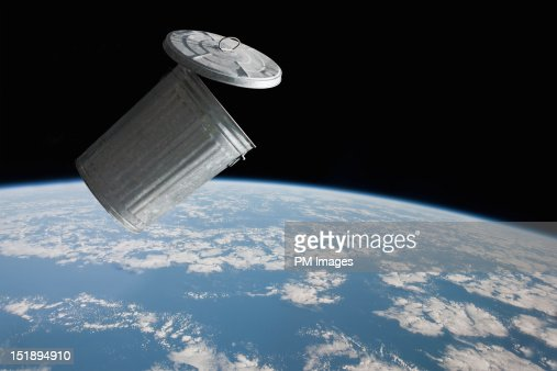Space garbage : Stock Photo