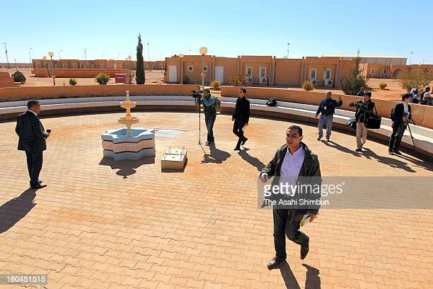 A space in the residential area where the hostages were reported to be gathered during recent hostage crisis on January 31 2013 in In Amenas Algeria...