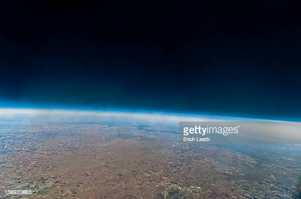 Space looking like from weather balloon