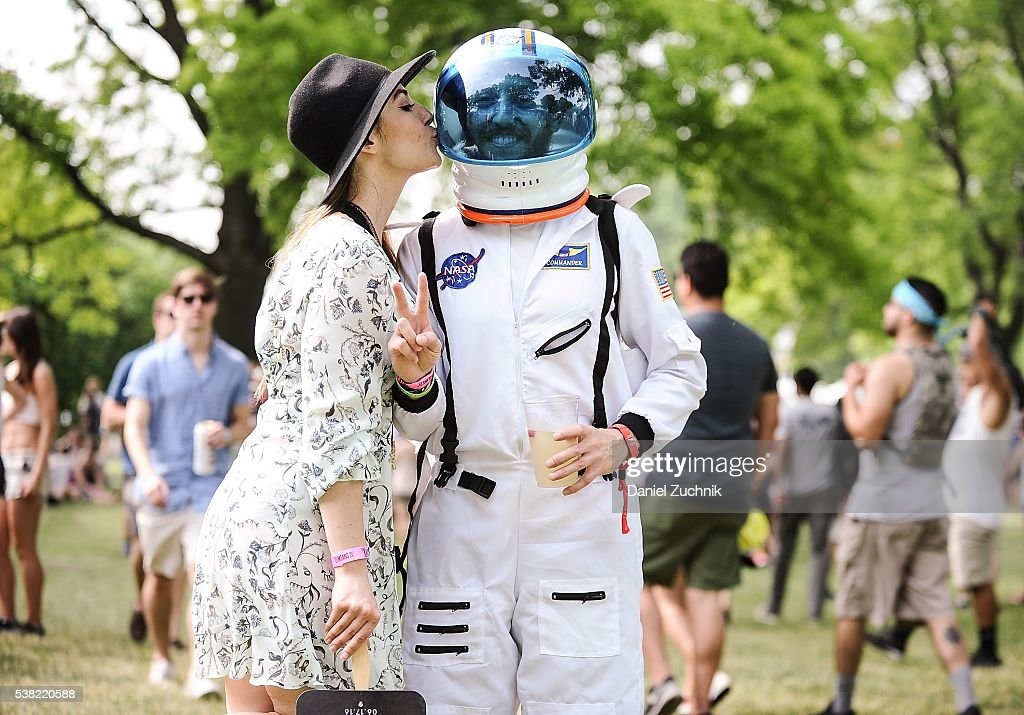 Space Man Does is seen during Day 2 of the 2016 Governors Ball Music Festival at Randall's Island on June 4, 2016 in New York City.