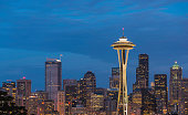 Space Needle Blue Hour