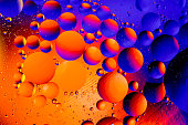 Space or planets universe cosmic abstract background. Abstract molecule atom sctructure. Water bubbles. Macro shot of air or molecule. Abstract space background. Biology, phycics or chymistry abstract