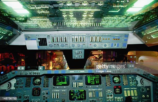 Space shuttle cockpit, Space Center Houston.