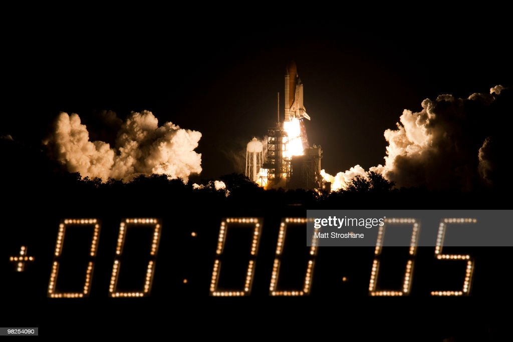 Space Shuttle Discovery lifts off from Pad 39-A at Kennedy Space Center April 5, 2010, in Cape Canaveral. Discovery is scheduled for a supply mission for a 13 day trip to the International Space Station.