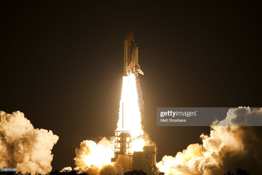 Space Shuttle Discovery lifts off from Pad 39-A at Kennedy Space Center April 5, 2010, in Cape Canaveral. Discovery is scheduled for a 13 day mission to the International Space Station.