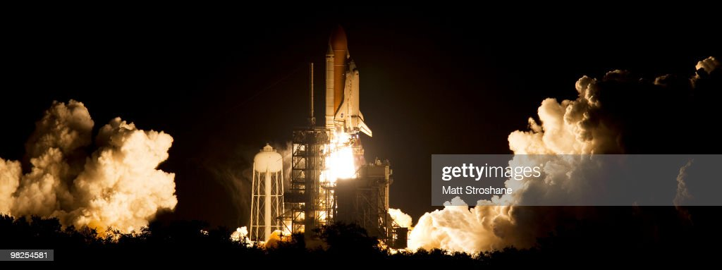 Space Shuttle Discovery lifts off from Pad 39-A at Kennedy Space Center April 5, 2010, in Cape Canaveral. Discovery is scheduled for a supply mission to the International Space Station.