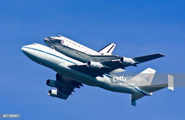 CONTENT] Space Shuttle Endeavour flies over San Francisco for one last time Endeavour carried piggyback atop a modified Boeing 747 jumbo jet does a...