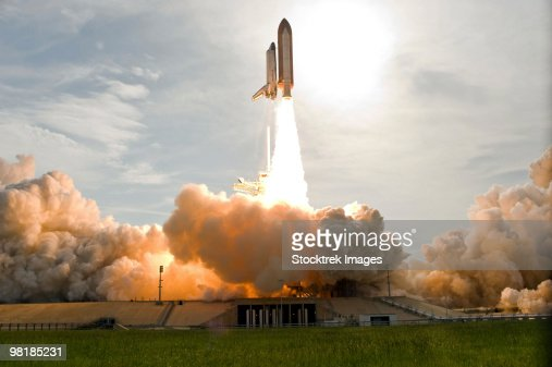 Space Shuttle Endeavour lifts off from Kennedy Space Center.
