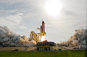 July 15, 2009 - Space Shuttle Endeavour heads toward Earth orbit and rendezvous with the International Space Station. Liftoff was on time at 6:03 p.m. (EDT) on July 15, 2009 from launch pad 39A at NAS