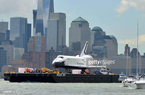 Space Shuttle Enterprise is transported to the Intrepid Sea Air Space Museum on June 6 2012 in New York City