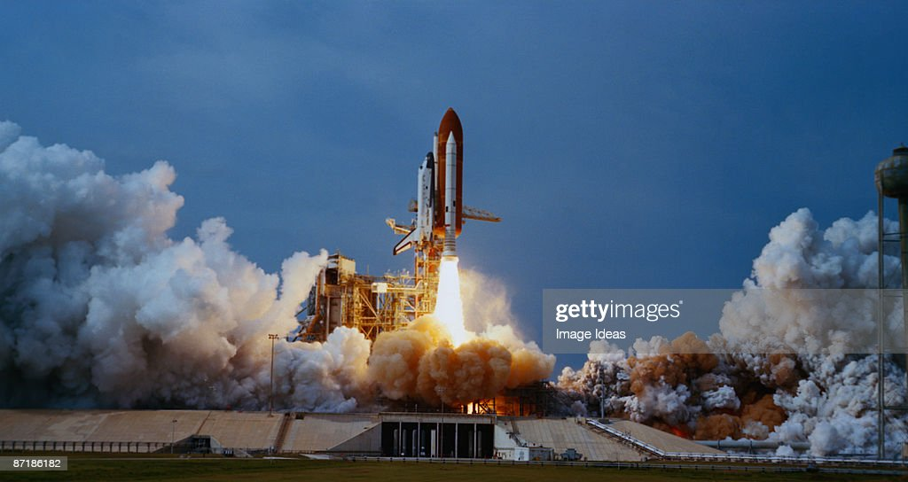 Space shuttle lift off