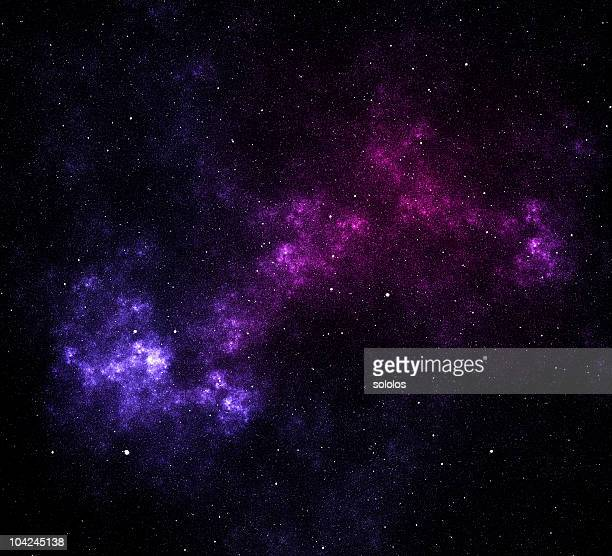 Space stars and nebula