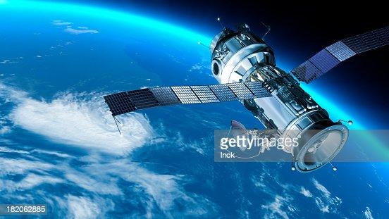 station spatiale en orbite de la terre.