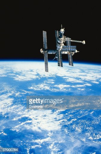 Space Station Mir over the Pacific