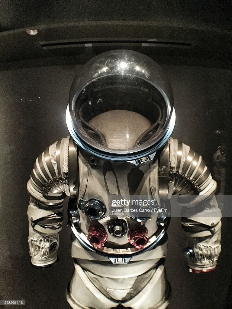 Space Suit In Display Cabinet