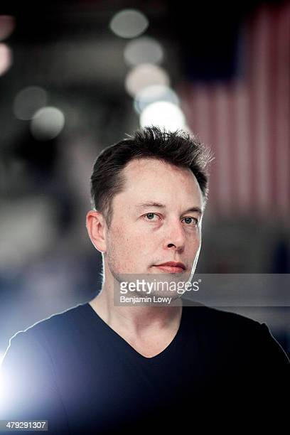 Space X and Tesla Motors founder and CEO Elon Musk is photographed for Fortune Magazine on November 7 2013 in Los Angeles California