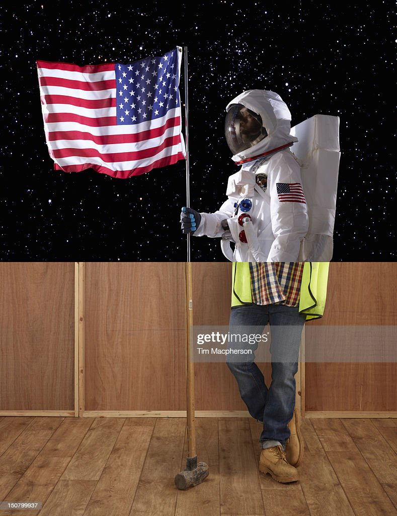 Spaceman top, builder bottom : Stock Photo