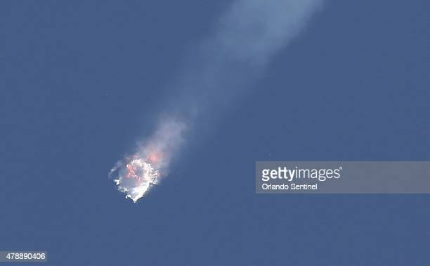 A SpaceX Falcon 9 rocket on its seventh official Commercial Resupply mission to the orbiting International Space Station explodes on Sunday June 28...