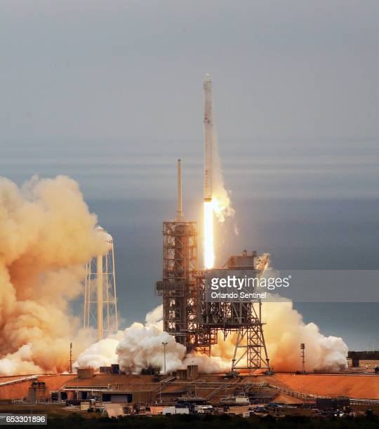 A SpaceX Falcon9 rocket blasts off Sunday Feb 19 2017 from the Kennedy Space Center A launch scheduled for Monday night March 13 2017 was delayed due...