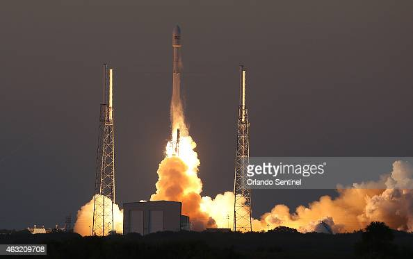 A SpaceX Falcon9 rocket blasts off the launch pad on Wednesday Feb 11 carrying the NOAA's Deep Space Climate Observatory spacecraft that will orbit...