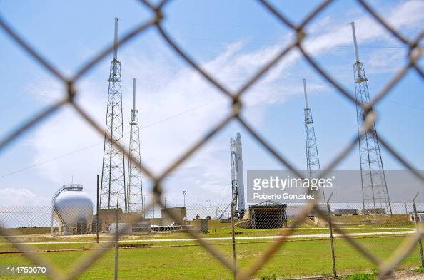 SpaceX rocket Falcon 9 sits on Pad 40 of the Cape Canaveral Air Force Station in Titusville Florida The launch Saturday morning launch would make...