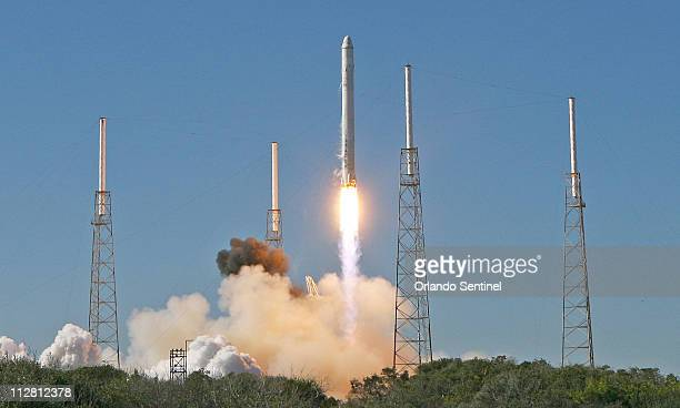 SpaceX's Falcon 9 rocket blasts off December 8 2010 from Cape Canaveral Florida carrying a Dragon capsule which is designed to deliver up to 13000...