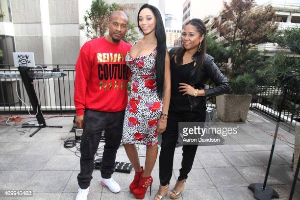 SpadeO Darnaa and Angela Yee attends A Live Episodic Introduction Of Darnaa Hosted By Angela Yee at Le Foret New Orleans on February 16 2014 in New...