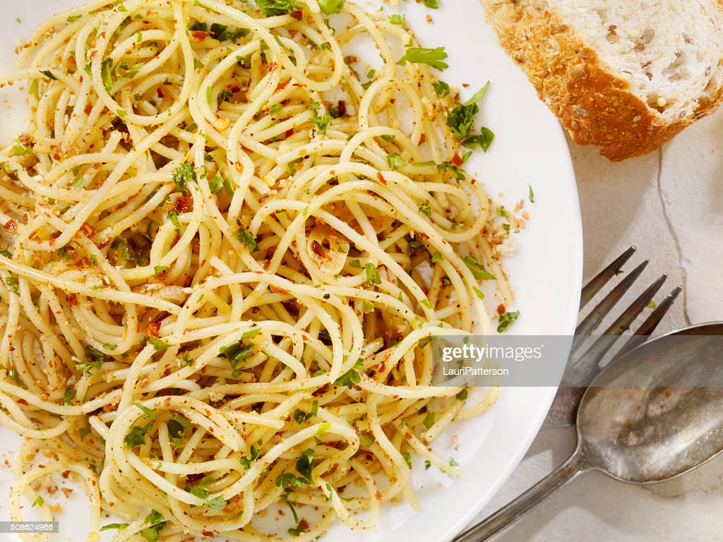 Spaghetti Aglio e Olio : Stock Photo